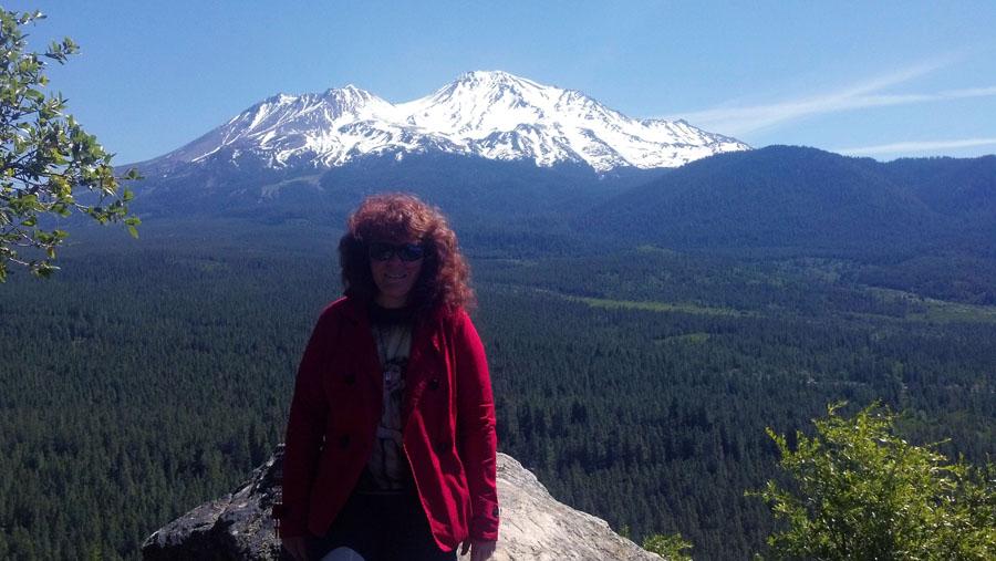 Angela hiking near Mt. Shasta, CA